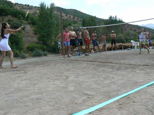 Plaj badminton turnuvası düzenlendi galerisi resim 1