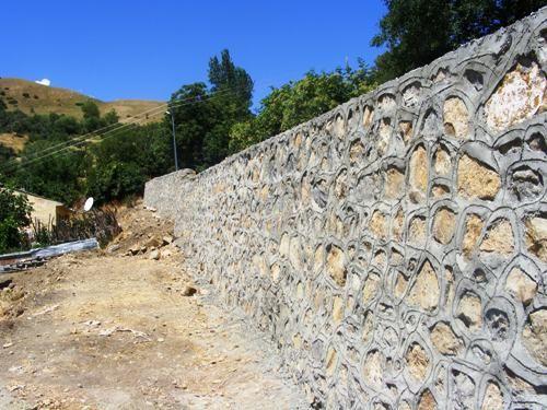 Afet Konutları'nın İstinat Duvarı Tamamlandı galerisi resim 1