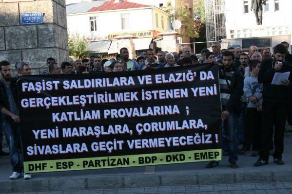 Elazığ'daki olaylar Tunceli'de yürüyüşlü protesto galerisi resim 1