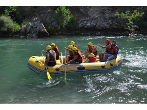 Tunceli'de Engelliler Rafting Yaptı