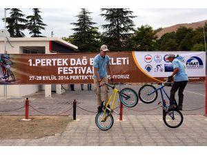 Pertek'teki Dağ Bisikleti Festivali sona erdi