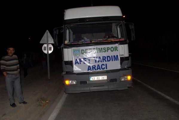 Dersimspor'dan Van'a yardım galerisi resim 1