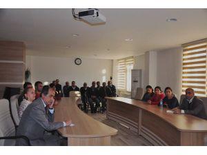 Belediyede birim müdürleriyle toplantı