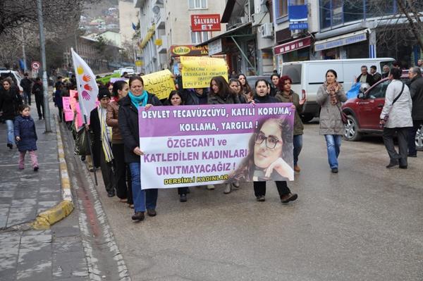 Dersim'de kadın cinayetine tepki galerisi resim 1