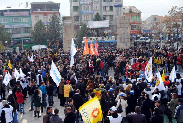 Tunceli'de İş Bırakma Eylemine Destek galerisi resim 1