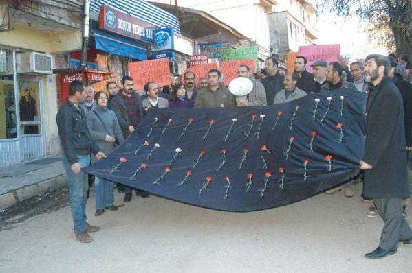 Uludere olayı Tunceli'de protesto edildi galerisi resim 1