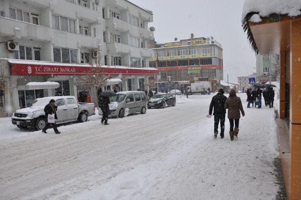Tunceli'de yoğun kar yağışıyla birlikte oluşan gör galerisi resim 1