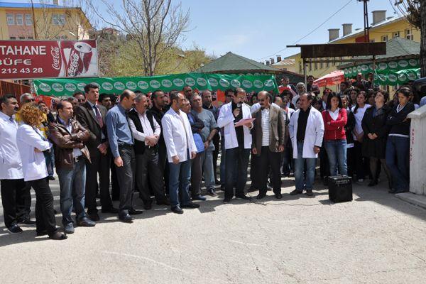 Tunceli'de Sağlık Çalışanlarından Kınama galerisi resim 1