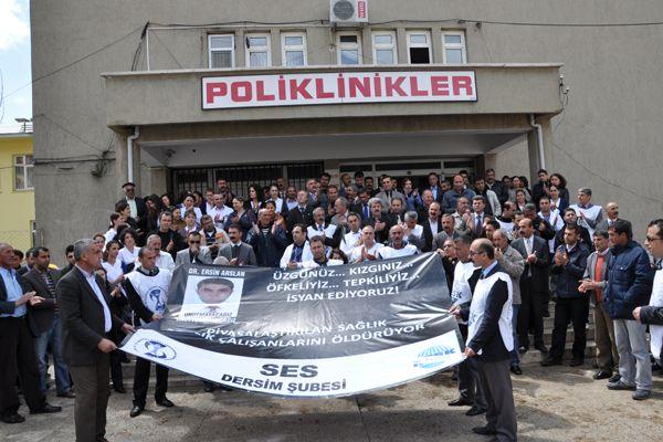 Tunceli'de Sağlık Çalışanları Eylemdeydi galerisi resim 1