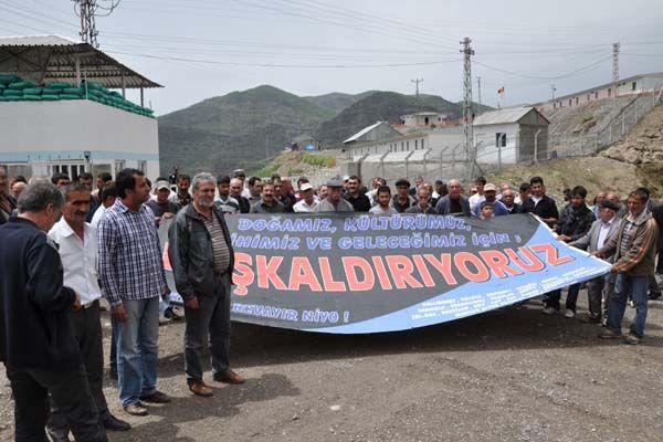 Baraj Şantiyesinde Eylem Yaptı galerisi resim 1