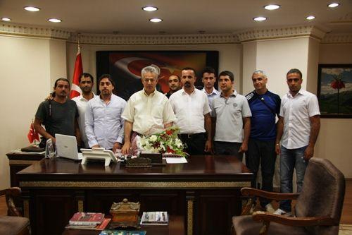 Dersimspor Kulübü yöneticileri Taşkesen`i ziyaret galerisi resim 1