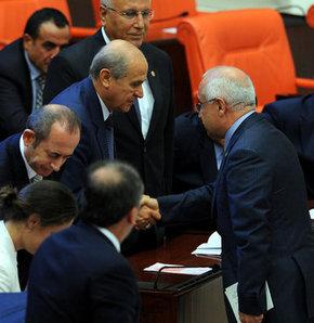 Meclis Başkanı Çiçek MHP lideri Bahçeli'yi kabul etti!