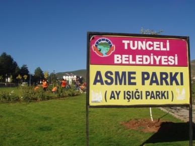 Asme Park'ında Temizlik Çalışması