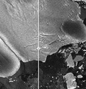 Tsunami buzuldan parçalar kopardı