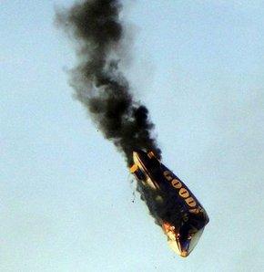 Goodyear'ın zeplini yandı