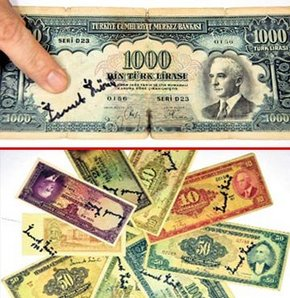 İsmet İnönü imzalı banknot koleksiyonu