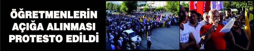 Öğretmenlerin açığa alınması protesto edildi
