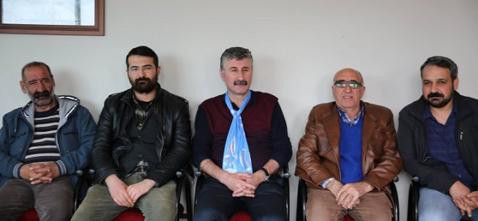 Alper Taş, Dersim'de Emek Partisi'ni ziyaret etti