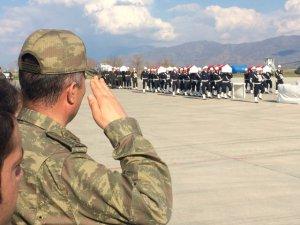 Helikopter Şehitleri Törenle Memleketlerine Uğurlandı