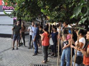Dersim'de yangın protestosu