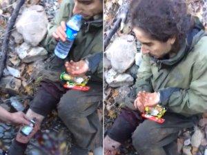 Yaralı PKK'lıya askerden müdahale