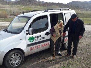 Hozat Belediyesi hastaları ücretsiz taşıyacak