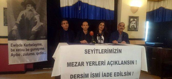 Ankara Dersimliler Derneği: Arşivler açılsın Dersim ismi iade edilsin