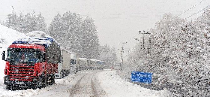 Pülümür'de yoğun  kar yağışı ve tipi
