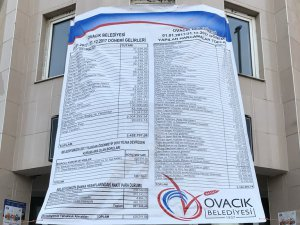 Ovacık Belediyesi gelir-gider tablosunu halka açtı