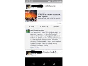 Sosyal medyada kendisine hakaret eden kişiyi deşifre etti