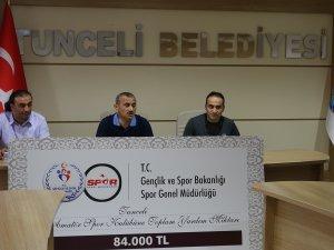 Amatör spor kulüplerine 84 bin lira yardım
