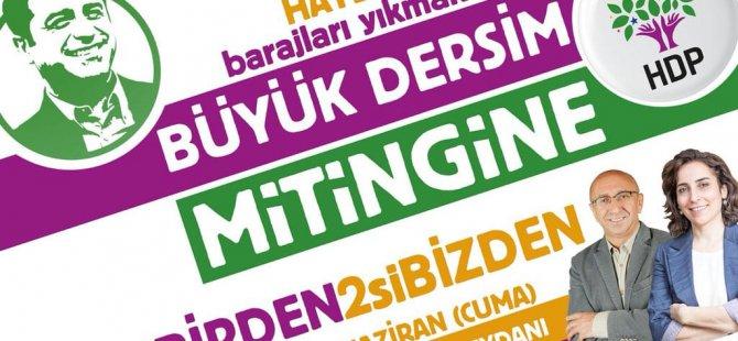 HDP'den Dersim mitingine çağrı