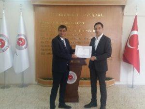 Milletvekili Şaroğlu, mazbatasını aldı