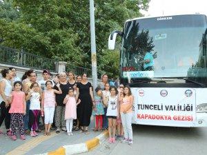 Anne ve çocukları Kapadokya'yı gezecek