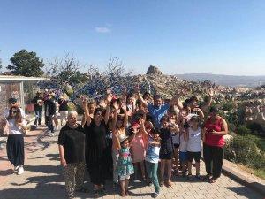 Çocuklar Anneleriyle Kapadokya'yı gezdi