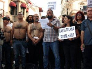 Dersim'deki yangın Taksim'de protesto edildi
