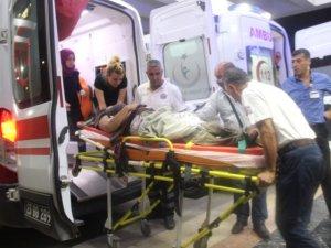 Mayın patladı: 1 kadın ağır yaralı