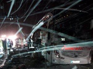 Dersim otobüsü devrildi: 3 ölü VİDEO