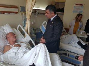 Milletvekili Erol, yaralıları ziyaret etti