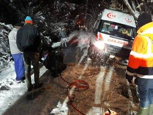 Kara saplanan ambulansı AFAD kurtardı
