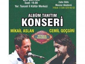 Mikail Aslan'dan  albüm tanıtım konseri