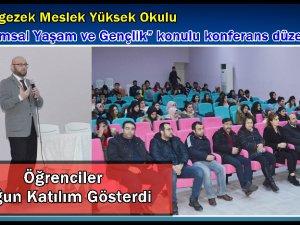 """Çemişgezek'te """"Toplumsal Yaşam ve Gençlik"""" konferansı"""
