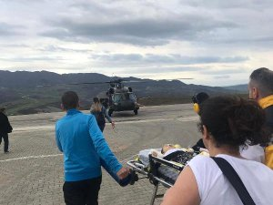 Helikopter 9 aylık bebek için havalandı