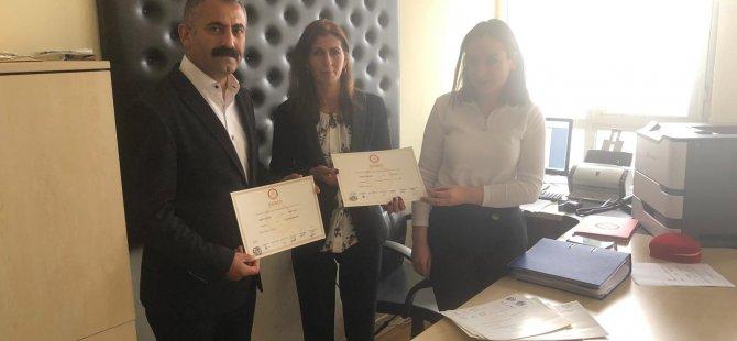 Akpazar Belediye Eş Başkanları mazbatalarını aldı