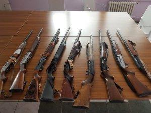 Avcılardan ele geçirilen tüfekler satılacak