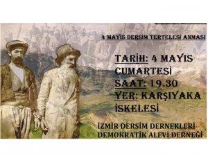 İzmir'de 4 Mayıs  anması yapılacak