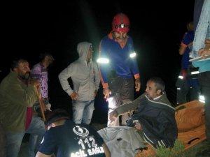 Kayalıklardan düşen kişiyi AFAD ekipleri kurtardı