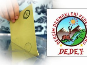 DEDEF'ten seçim açıklaması