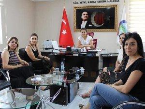 Kadın girişimcilerden belediyeye ziyaret