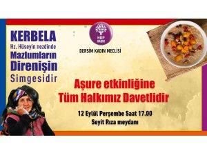 HDP Dersim Kadın Meclisi, aşure lokmalarını pay edecek